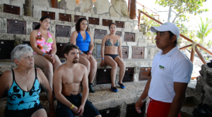 people getting ready to do sea trek