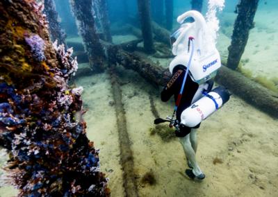 walk underwater